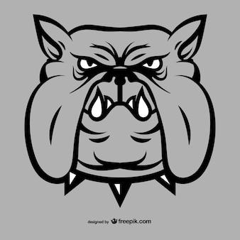 Bulldog gezicht tekening