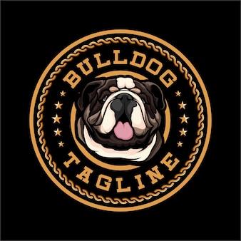Bulldog hond logo-badge