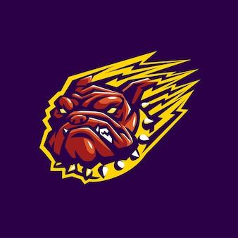 Bulldog hoofd mascot esport logo sport
