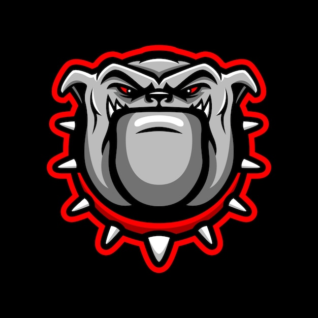 Bulldog hoofd mascotte logo