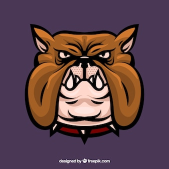 Bulldog huisdier hoofd
