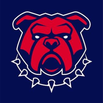 Bulldog in puntige kraag mascotte