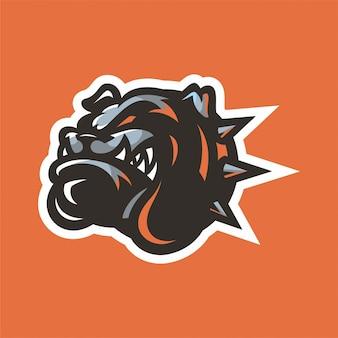 Bulldog mascot hoofdembleem