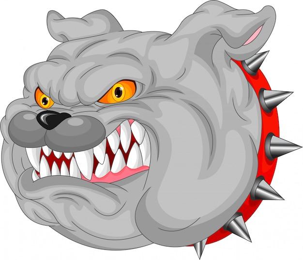 Bulldog mascotte cartoon