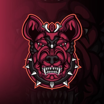 Bulldog monster hoofd gaming mascotte logo