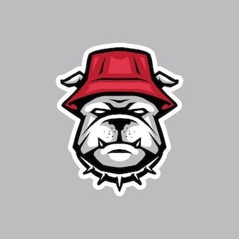 Bulldog-pictogram voor logo en mascotte