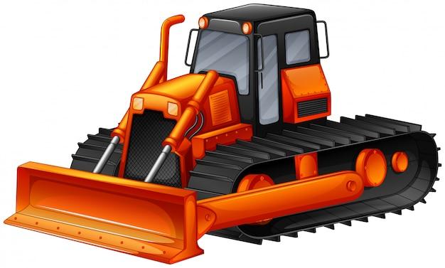 Bulldozer Gratis Vector