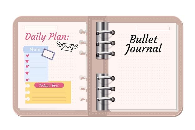 Bullet journal met doodle tekeningen
