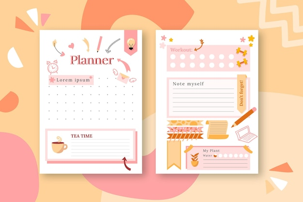 Bullet journal planner pack