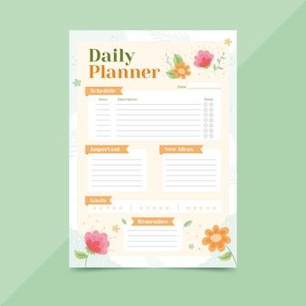 Bullet journal planner-sjabloon