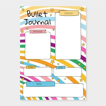 Bullet journal planner-sjabloon