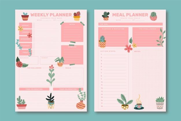 Bullet journal wekelijkse planner-sjabloon