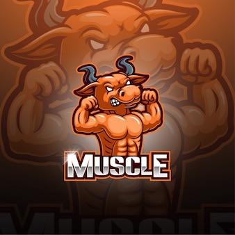 Bulls esport mascotte logo