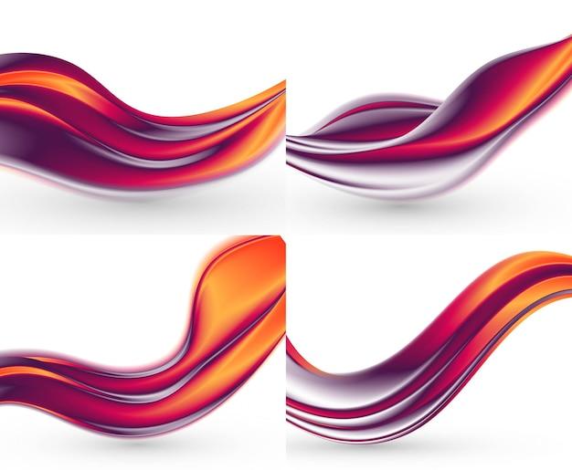 Bundel abstracte golvenachtergronden.