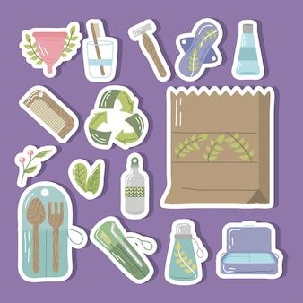 Bundel herbruikbare pictogrammen