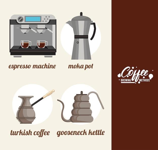 Bundel met koffiezetmethoden