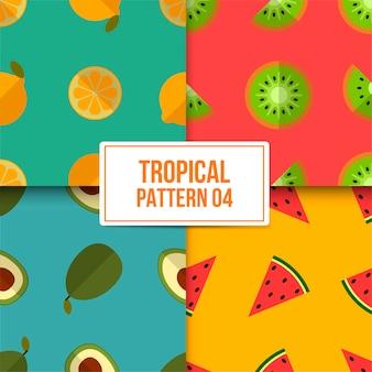 Bundel tropische patroon