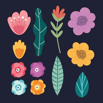 Bundel van bloemen tuinset