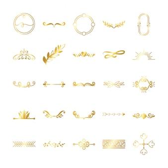 Bundel van decoratieve elementen set