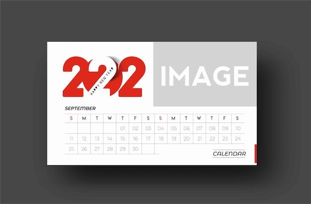 Bundel van happy new year 2022 kalender - nieuwjaarsvakantie ontwerpelementen voor kerstkaarten, kalender banner poster voor decoraties, vector illustratie achtergrond.