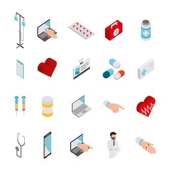 Bundel van medische gezondheidszorgpictogrammen