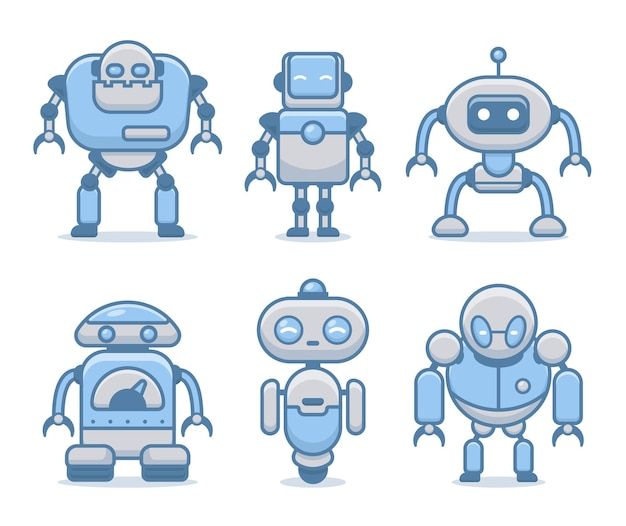 Bundel van robots cyborg set