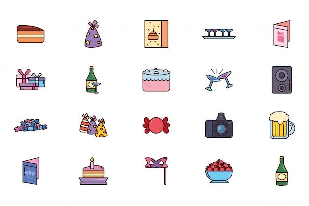Bundel verjaardag met pictogrammen instellen