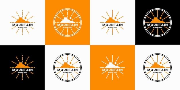 Bundelberg, avontuur logo ontwerp vector