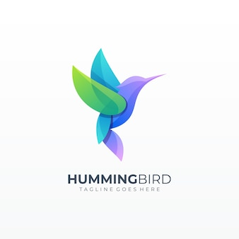 Bunny kleurrijke raster vorm logo
