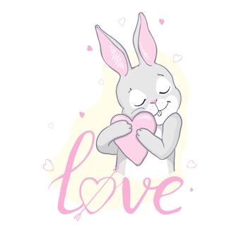 Bunny schattige print.