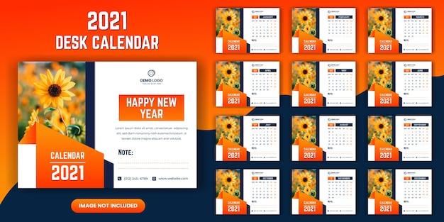 Bureau kalendersjabloon