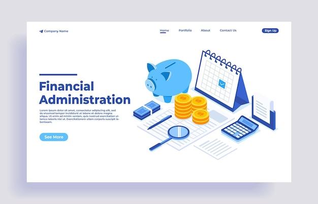 Bureau met spaarvarken en zakelijke documenten