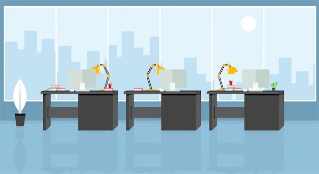 Bureau van leren en onderwijzen om te werken met behulp van illustratie, programma