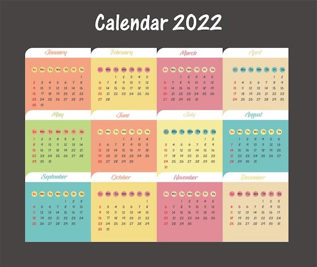 Bureaukalender 2020 sjabloon of planner