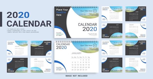 Bureaukalender 2020-sjabloon