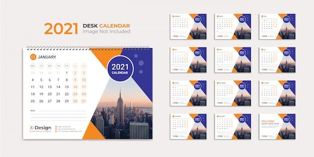Bureaukalender 2021-sjabloon