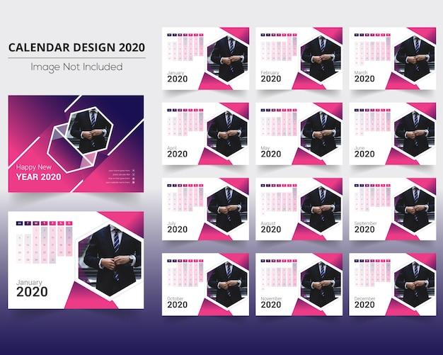 Bureaukalender met prachtige gradiant