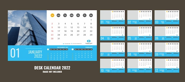 Bureaukalender of planner 2022