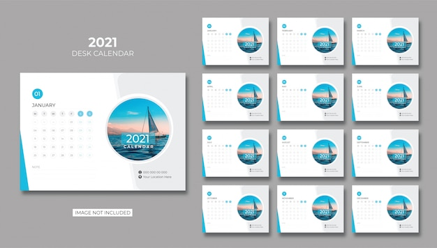 Bureaukalender, tafelkalender 2021