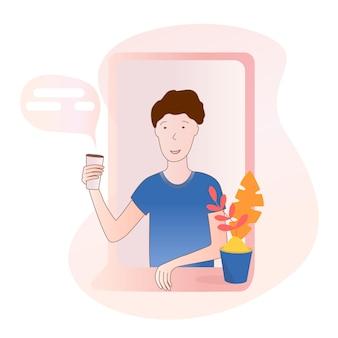 Buren karakter vector illustratie plat ontwerp vector illustratie