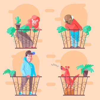 Buren op balkons