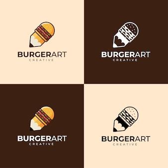 Burger en kunst logo ontwerp