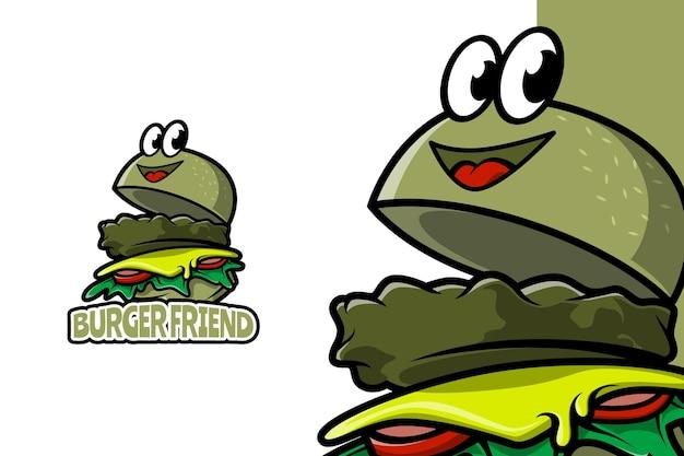 Burger friend - logo sjabloon voor mascotte