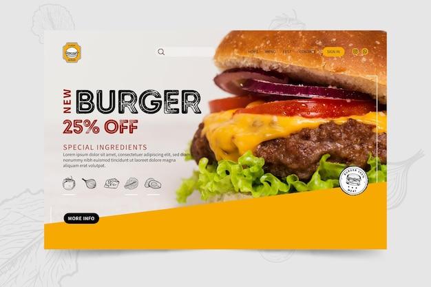 Burgers restaurant bestemmingspagina sjabloon