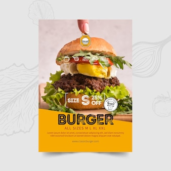 Burgers restaurant flyer-sjabloon