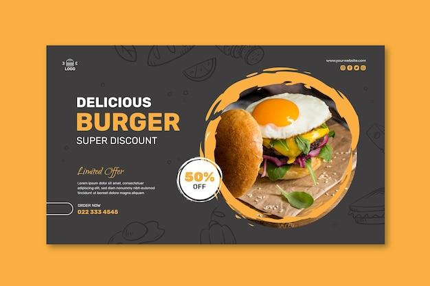 Burgers restaurant sjabloon voor spandoek