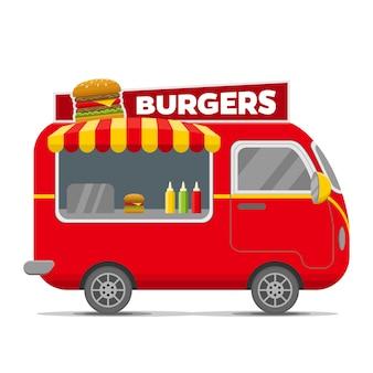 Burgers straatvoedsel caravan aanhangwagen