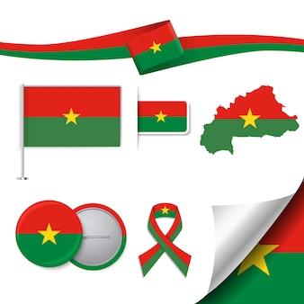 Burkina faso representatieve elementen collectie