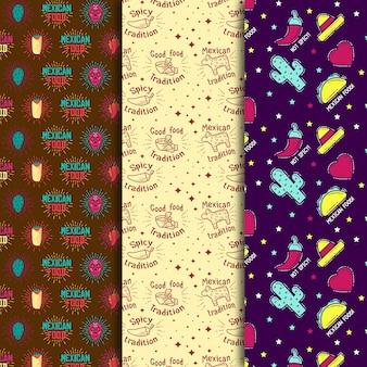 Burrito en cactussen naadloos patroon