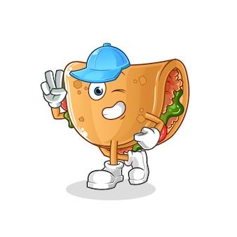 Burrito jonge jongen. cartoon mascotte